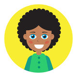 Female icon for avatar. Royalty Free Stock Image