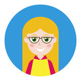 Female icon for avatar. Stock Images