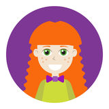 Female icon for avatar. Royalty Free Stock Images