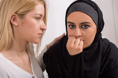 Female immigrant from arab country Royalty Free Stock Image