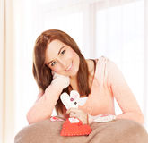 Female In Love Stock Photography