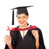 Female indian graduate Royalty Free Stock Images