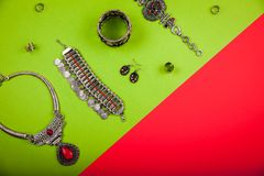 Female indian jewellery and accessories Royalty Free Stock Photo