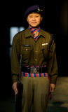 Female Indian Police Woman Nepali Uniform Stock Image