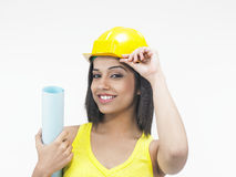 Female industrial worker Royalty Free Stock Photography