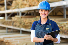 Female industrial worker Stock Images