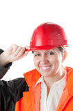 Female industrial worker. Stock Photo
