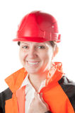 Female industrial worker. Royalty Free Stock Photography