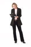 Female inspector #2. Full lenght portrai of female inspector Stock Image