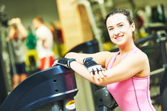 Female instructor portrait at a gym Royalty Free Stock Photography