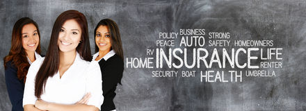 Female Insurance Agent. Who is happy to be working Stock Photography