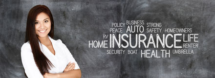 Female Insurance Agent. Who is happy to be working Stock Images