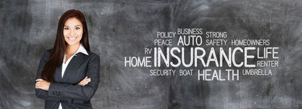 Female Insurance Agent Stock Image
