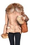 Female jacket and bag Royalty Free Stock Image