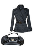 Female jacket and bag Royalty Free Stock Photos