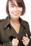 Female in jacket portrait Royalty Free Stock Images