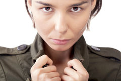 Female in jacket portrait Stock Photos