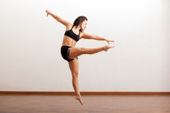 Female jazz dancer in action Royalty Free Stock Image