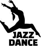 Female jazz dancer. Music vector vector illustration