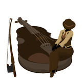 Female Jazz Player Illustration Stock Photos