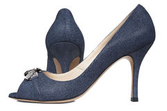 Female jeans shoes Stock Photography