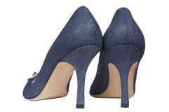 Female jeans shoes stock image