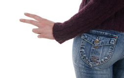 Female in jeans standing Stock Photography
