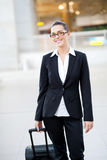 Female jetsetter Royalty Free Stock Images