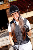 Female jockey Stock Image