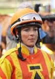 Female Jockey Chantal Sutherland Stock Image