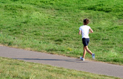 Female jogger Stock Image