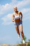 Female jogging Stock Image