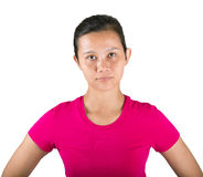 Female In Jogging Attire Stock Images