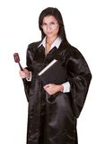 Female judge in a gown Stock Photography