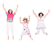 Female jumping Stock Photography