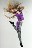 Female jumping high Royalty Free Stock Photography