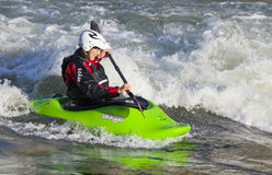 Female Kayaker in River Stock Photography
