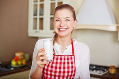Female with kefir Stock Photos