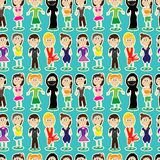Female Kid Fashion Seamless pattern_eps Royalty Free Stock Photos