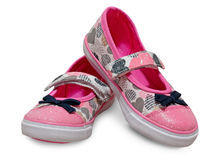 Female kid shoes isolated. Stock Images