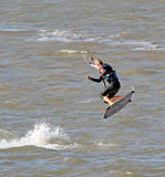 Female kitesurfer Royalty Free Stock Photo
