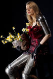 Female knight in armour Stock Photos