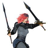 Female knight Stock Images