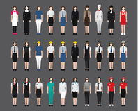 Female/kobiety zajęcia ikony Obrazy Stock
