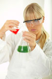 Female in lab Royalty Free Stock Photography