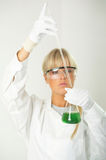 Female in lab royalty free stock photo