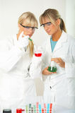 Female in lab Stock Photos
