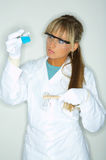 Female in lab Royalty Free Stock Photos