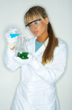 Female in lab Stock Photo