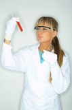 Female in lab Stock Photography